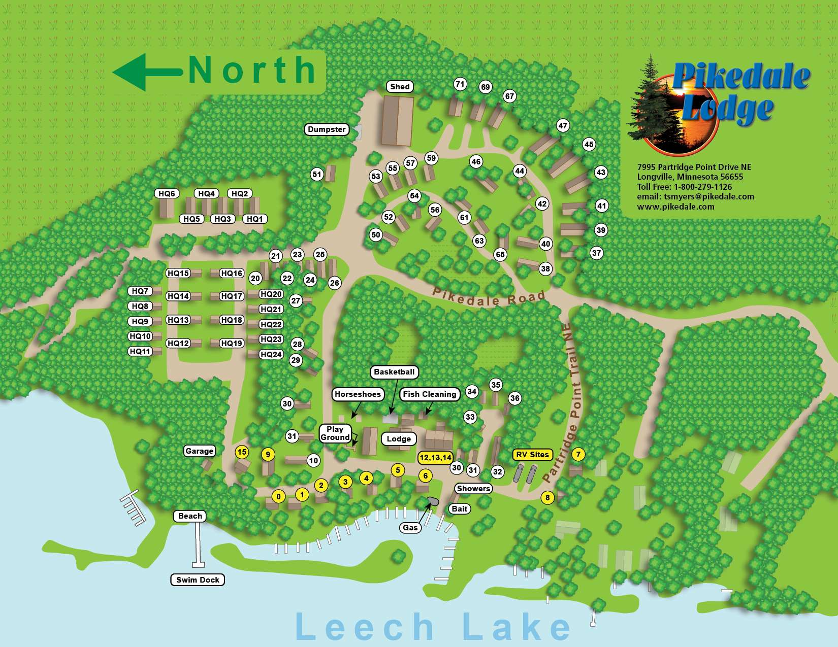 Pikedale Lodge and Resort Layout